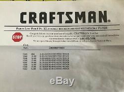 Nouveau Craftsman Métrique XL Ratcheting Wrench Set 8 Piece Double Box 8-19mm