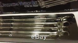 Nouveau Jeu De Clés À Cliquet Platinum Tools XL 5 Pièces Métriques 99650 Extra Long