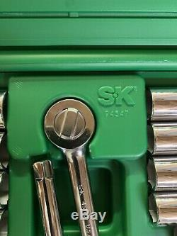 Sk Outils 94547 47 Pc 3/8 Dr. Sae / Métrique Chrome Clé À Douille Ensemble 6 Pts Nouveau