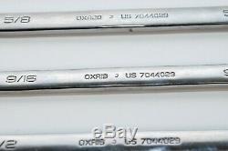Snap On Oex707 7 Pc 12 Points Sae Ratcheting Combinaison Jeu De Clés (3 / 8-3 / 4)