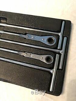 Snap On Poignée En T Tools Métrique Ratcheting Box Set Clé Rtbm605 (8-14mm)