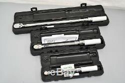 Snap-on 1/4 3/8 1/2 Dr Ajustable Cliquez Type Flex Ratchet Set Clé Dynamométrique