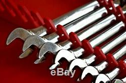 Snap-on Tools Rare Blue-point 9pc Imperial Sae Ratchet Spanner Set (886)