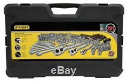 Stanley 201 Mécanique Piece Outils Mixtes Set, Clés, Douilles, Ratchet Tool Kit
