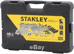 Stanley Mechanics Tool Set Mors À Cliquet À Douille De 145 Pièces