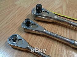 USA Craftsman 1/4 3/8 1/2 Dr. Professional Set Cliquet Poli Clé À Douille