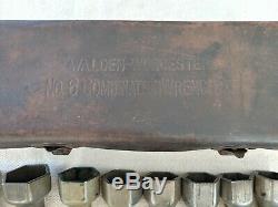 Vintage Walden Worcester Clé À Cliquet Jeu De Douilles N ° 6 Ford 1920 Outils Auto