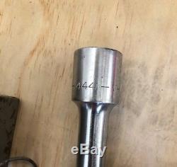 Vintage -v- Craftsman 3/4 Drive Socket Set 44801 Cliquet USA Avec Boîte En Métal Rare